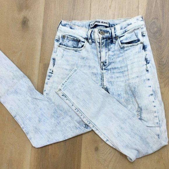 Express Acid Wash Skinny Jean